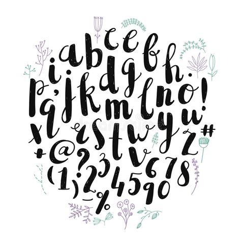 brush lettering alphabet vector brush pen font alphabet stock vector 22082