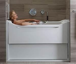 Easy Access Bathtubs Rising Wall Bath Elevance By Kohler