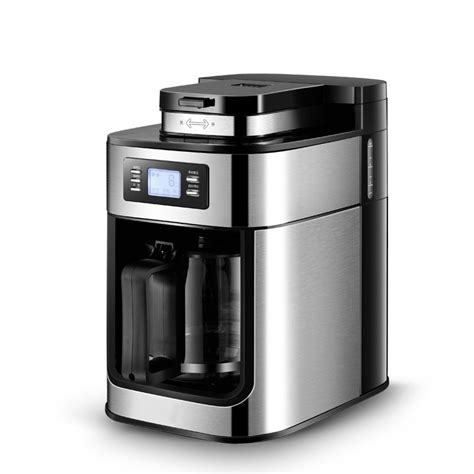 Top rated coffee maker with grinder comparison table. 2 In 1 Automatic Drip Coffee Maker Bean Grinder Electric Espresso Americano Coffee and TEA ...