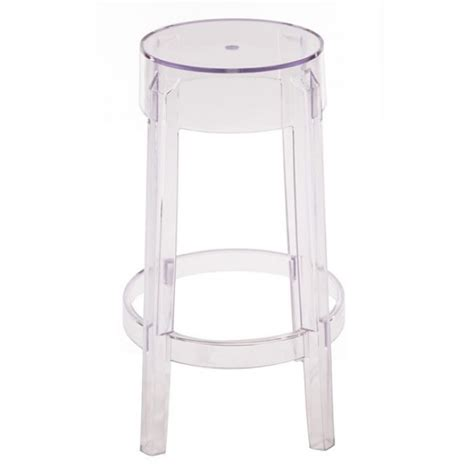2 x ghost style clear color counter stool