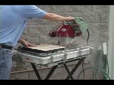 Mk100 Tile Saw Motor by Mk 101 Tile Saw Demonstration