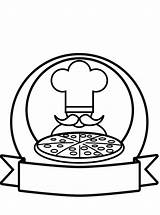 Pizza Restaurant Coloring Votes sketch template
