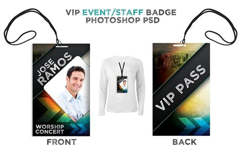 Staff Badge Template by Press Pass Vip All Access Pass Card Templates