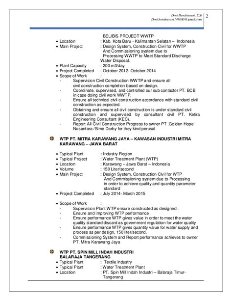 Updating My Resume 2015 by Resume Cv Deni Hendrayani Update 24 May 2015