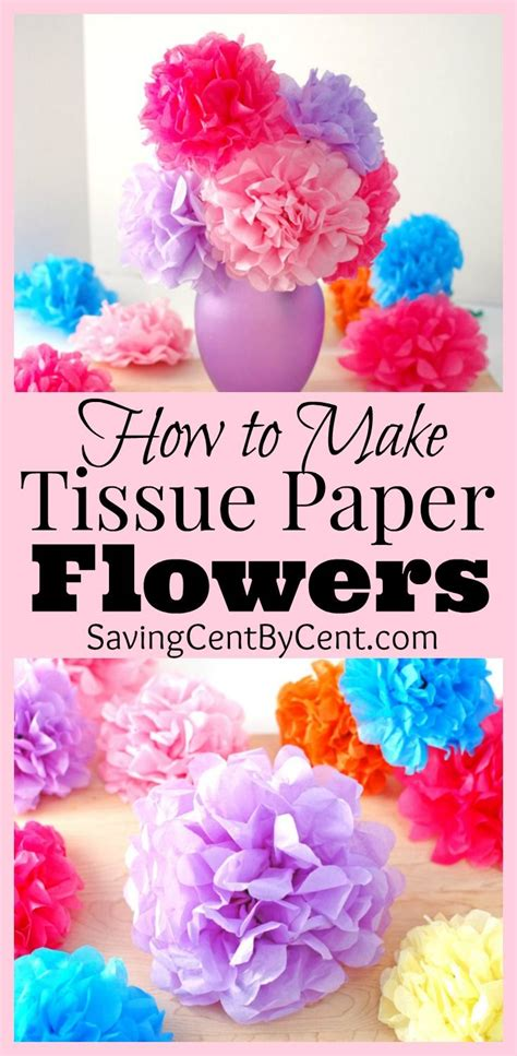 How To Make Tissue Paper Flowers Video Tutorial Saving