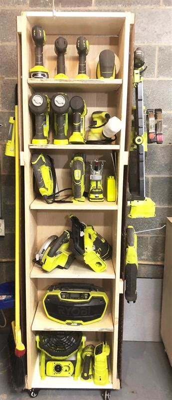 mobile power tool storage unit buildsomethingcom