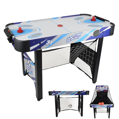air hockey and football table jumpstar 240v childrens 3 in 1 multi games table air