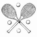 Tennis Coloring Racket Printable Getcoloringpages sketch template