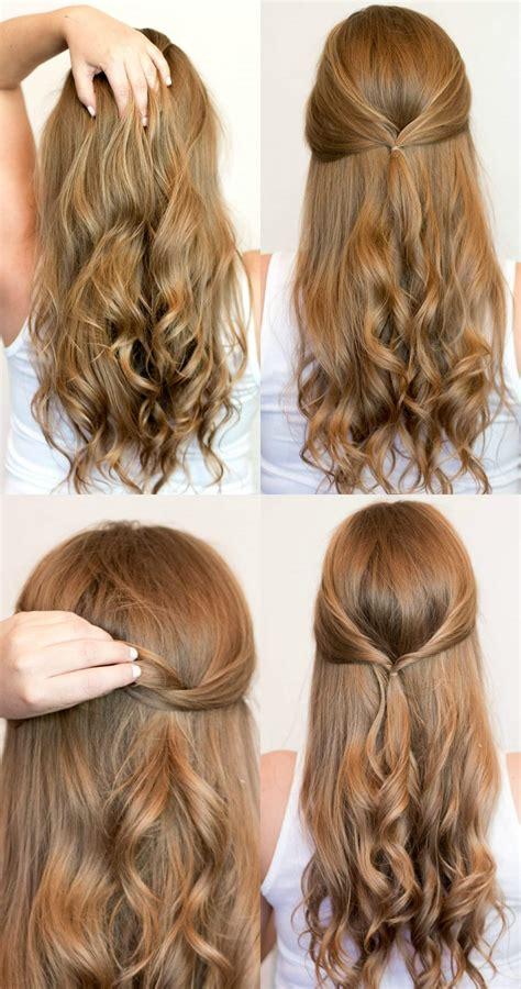 easy heatless hairstyles for long hair ashley brooke