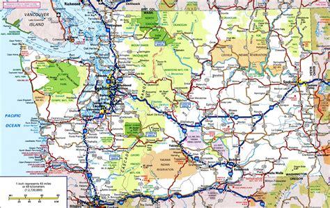 map  northwest washington state  travel information