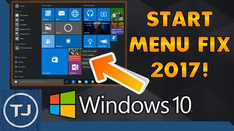 how to fix windows 10 start menu button 2017 new
