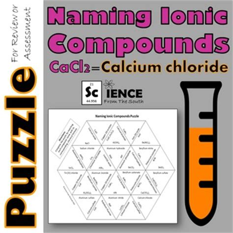 naming ionic compounds puzzle for review or assessment tpt