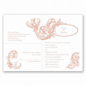 posh flourish 3 for 1 invitation invitations by dawn With 2 in 1 wedding invitations