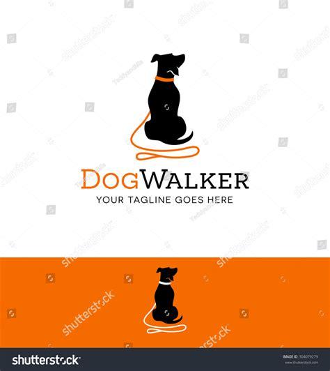 Logo Design Dog Walking Training Dog Stock Vector ...