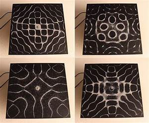 The visual patterns of audio frequencies seen through for The visual patterns of audio frequencies seen through vibrating sand