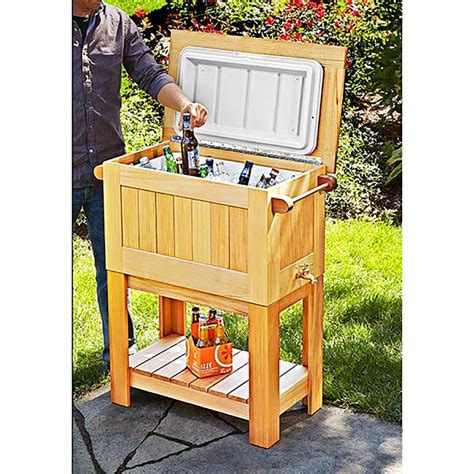 patio coolers with stands cooler stand woodworking plan from wood magazine