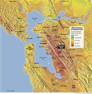 Hayward Earthquake Fault Line Map
