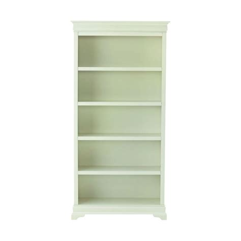White Bookcase by Home Decorators Collection Louis Philippe Polar White Open