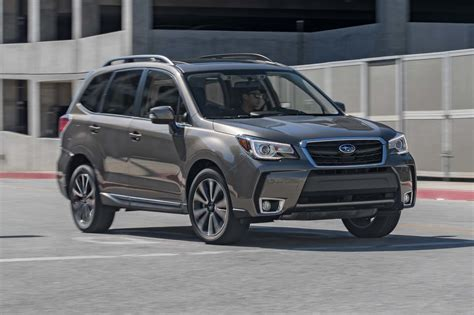 brown subaru forester 2017 subaru forester 2 0xt touring first test review