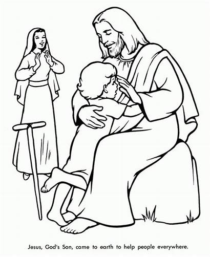 Bible Coloring Pages Printable Sheets Children Religious