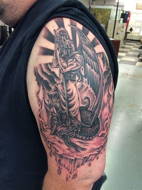 St Michael Tattoo Finished  St Michael Tattoo