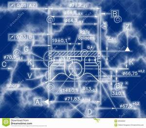 Example Of Industry Document Blueprint Stock Illustration