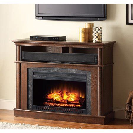 whalen fireplace tv stand whalen media fireplace console for tvs up to 45 quot rustic