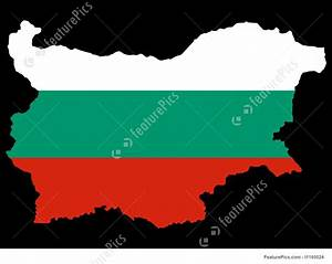 Map Of Bulgaria And Bulgarian Flag Illustration