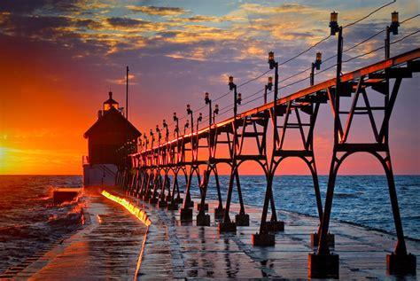 printed photography sunset  lake michigan  visuals