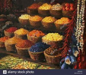 Leinwand Auf Englisch : ein lgem lde auf leinwand von einem bunten markt stehen im orient mit obst s igkeiten ~ Eleganceandgraceweddings.com Haus und Dekorationen