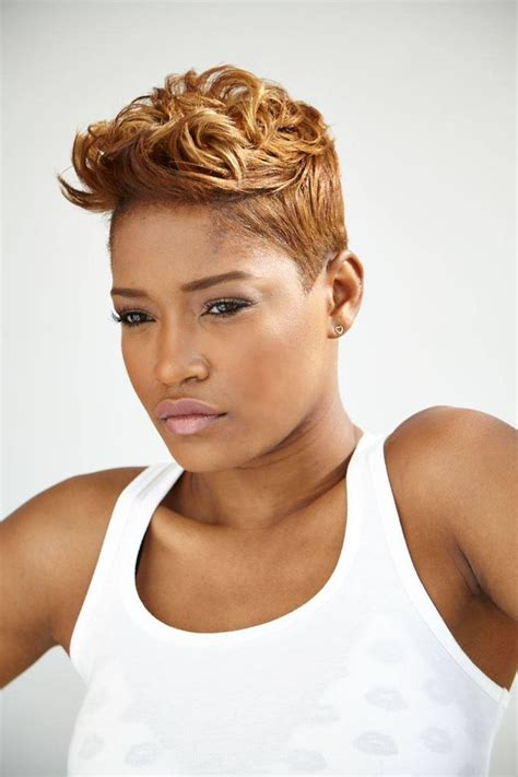 black women short spike hairstyles images