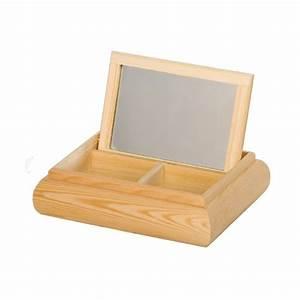 Coffre à Bijoux Bois : boite bijoux bois avec miroir tout creer ~ Premium-room.com Idées de Décoration
