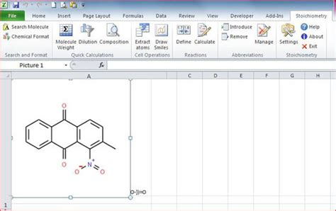 excel add   basic chemical calculations  education