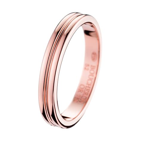 Godron Small Pink Gold Wedding Band  Boucheron Usa