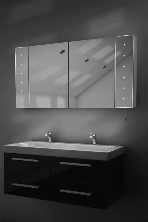 karma led illuminated battery bathroom mirror cabinet