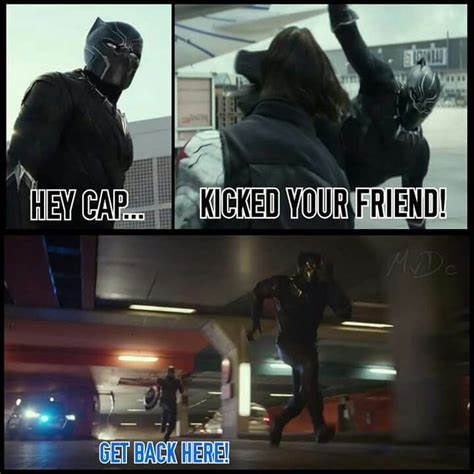 Black Panther Memes - captain america and black panther meme lol pinterest panthers america and black