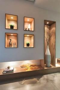 Decoration Led Interieur : 1001 id es comment d corer vos int rieurs avec une niche murale deco salon parement mural ~ Teatrodelosmanantiales.com Idées de Décoration