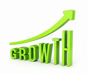 Growth Diagram With Arrow Stock Illustration  Illustration