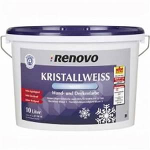 Test Wandfarbe Weiß : renovo kristallweiss wandfarben im test ~ Lizthompson.info Haus und Dekorationen