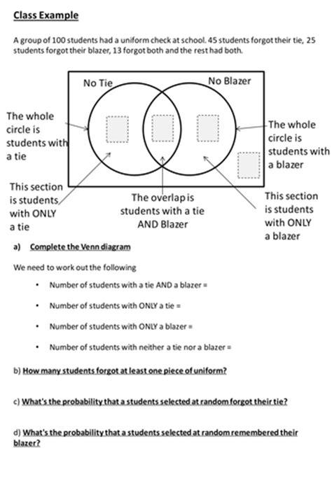 Venn Diagram Probability Question by Structured Venn Diagram Questions By Siouxzied Teaching