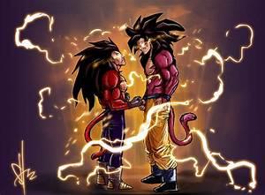 Goku vs Vegeta 3 by scottssketches on DeviantArt