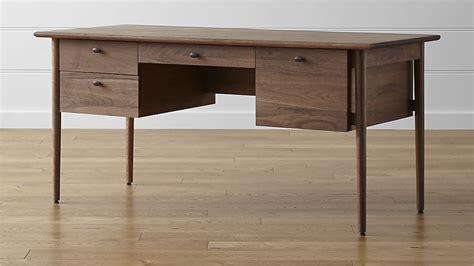 black walnut desk top kendall walnut desk crate and barrel