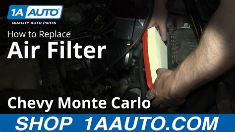 2007 Monte Carlo Fuel Filter by How To Replace Engine Air Filter 00 07 Chevy Monte Carlo