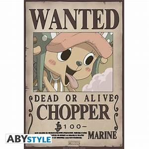 ONE PIECE Poster Wanted Chopper New (52x35cm) - ABYstyle