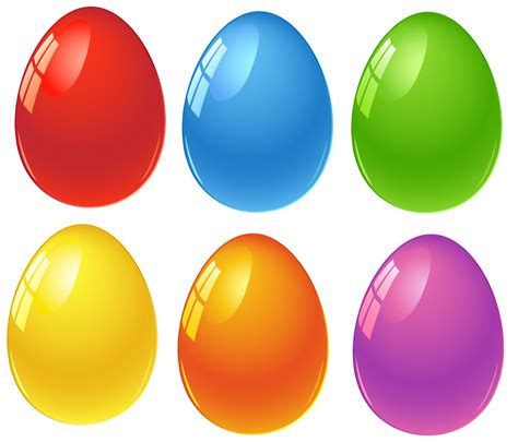 colored easter eggs colored eggs clipart