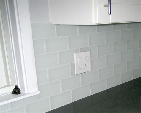 white glass tiles frosted white glass subway tile
