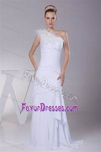 luxurious column one shoulder chiffon bridal gown dress With low price wedding dresses