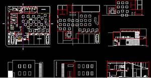 Restaurant, Hotel, Roof Top Hotel 2D DWG Plan for AutoCAD