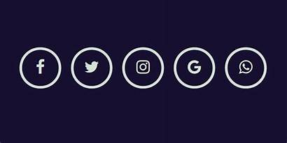 Social Icon Animation Glowing Hover Codemyui