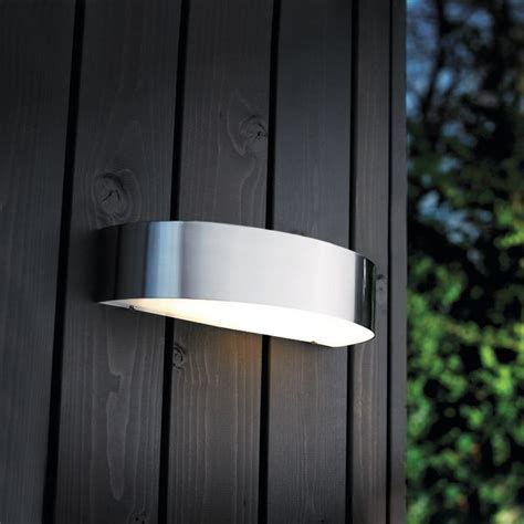 nordlux arc outdoor wall light stainless steel nordlux arc 10w outdoor wall light stainless steel